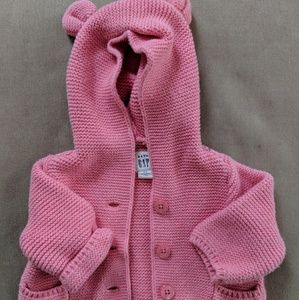 Knit coral pink Baby Gap sweater 0-3 month